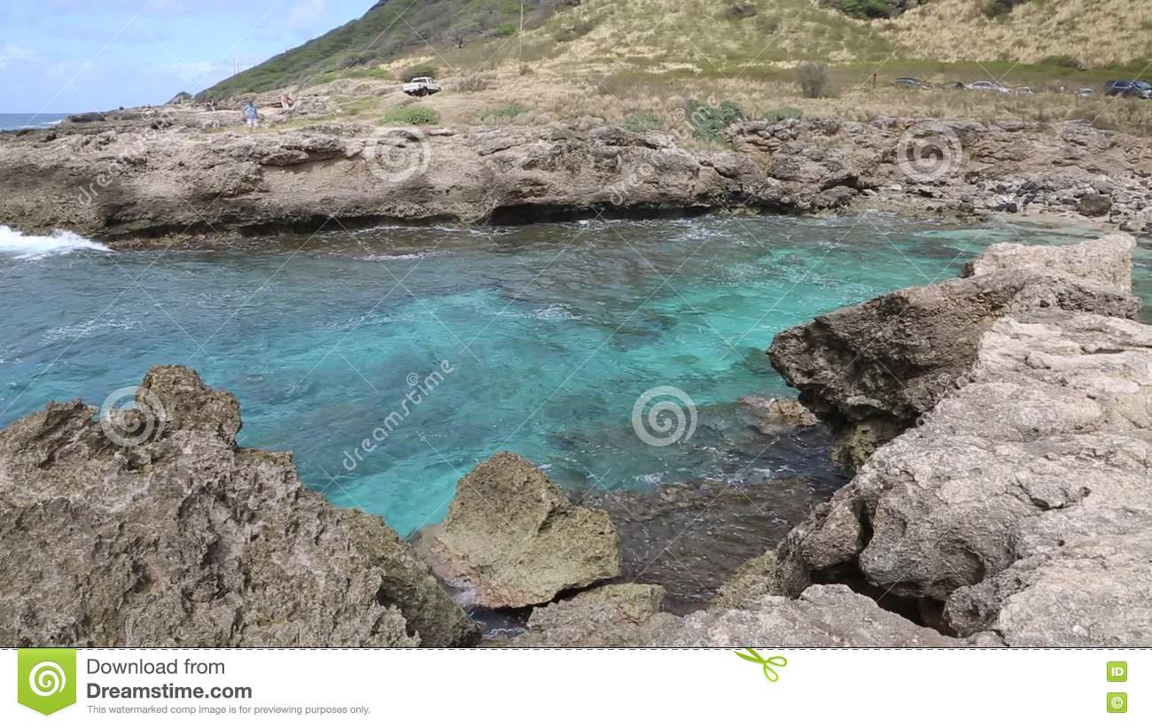 Turquoise bay in Kaena Point