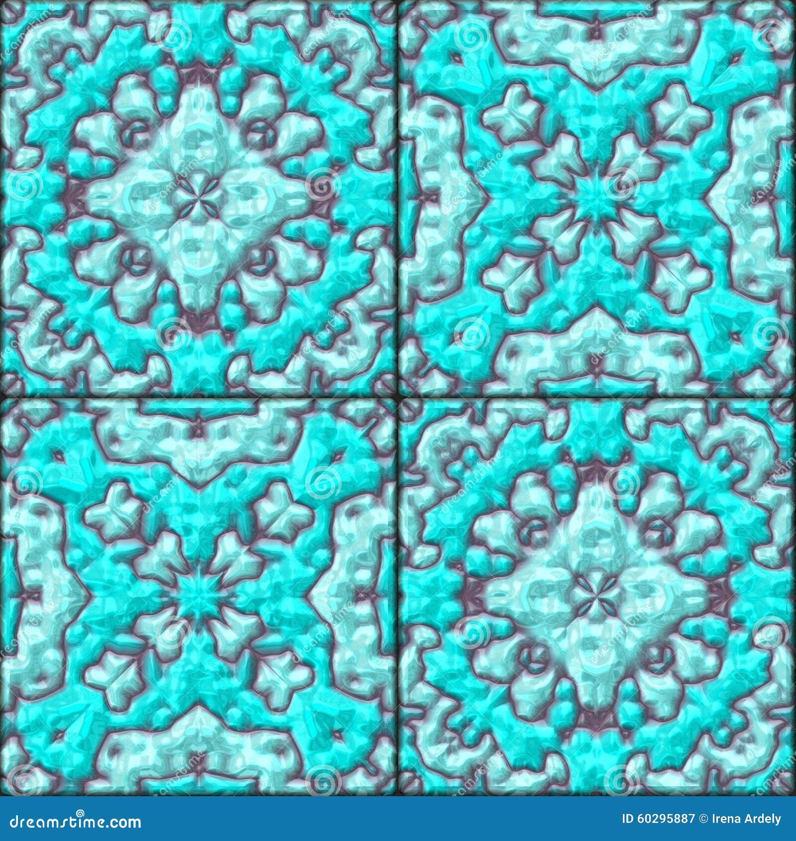 Bathroom Floor Plans Free Turquoise Blue Floral Ceramic Tiles Seamless Pattern