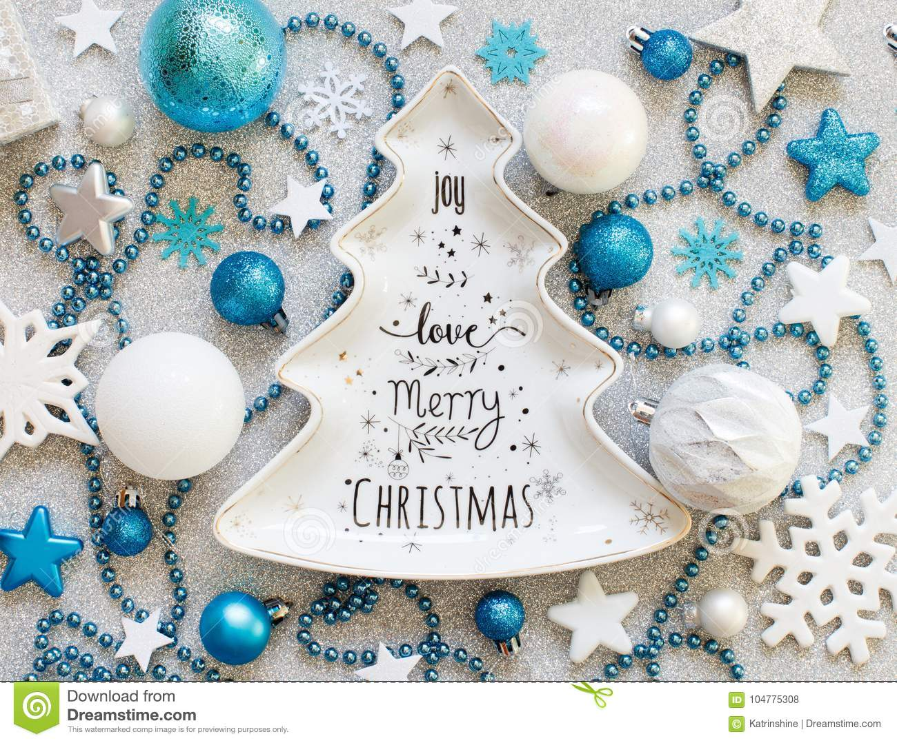 download turquoise blue and silver festive christmas decorations stock photo image of noel elegant