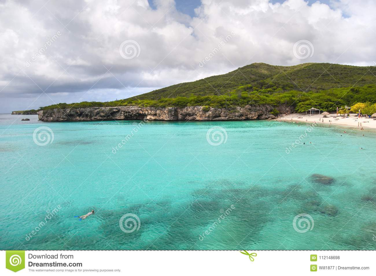Turquoise Caribbean Water And Secluded Beach Stock Photo - Image of