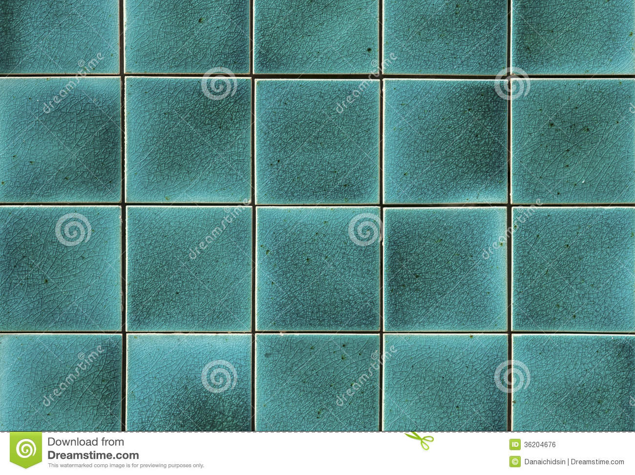 Turquoise Ceramic Tile Stock Photo Image Of Green Line
