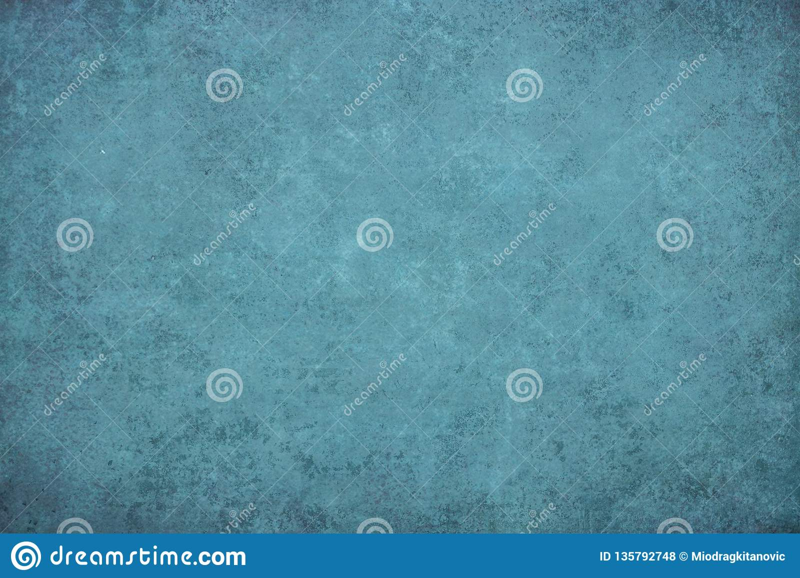 Turquoise dotted grunge texture, background