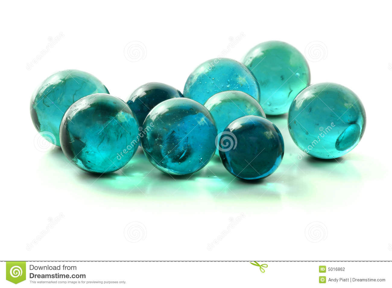 Turquoise Glass Marbles Stock Photo Image Of Recycled