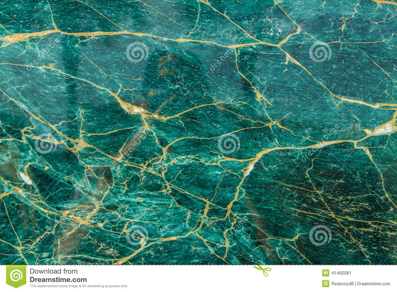Turquoise And Gold Polished Granite Stock Image Image