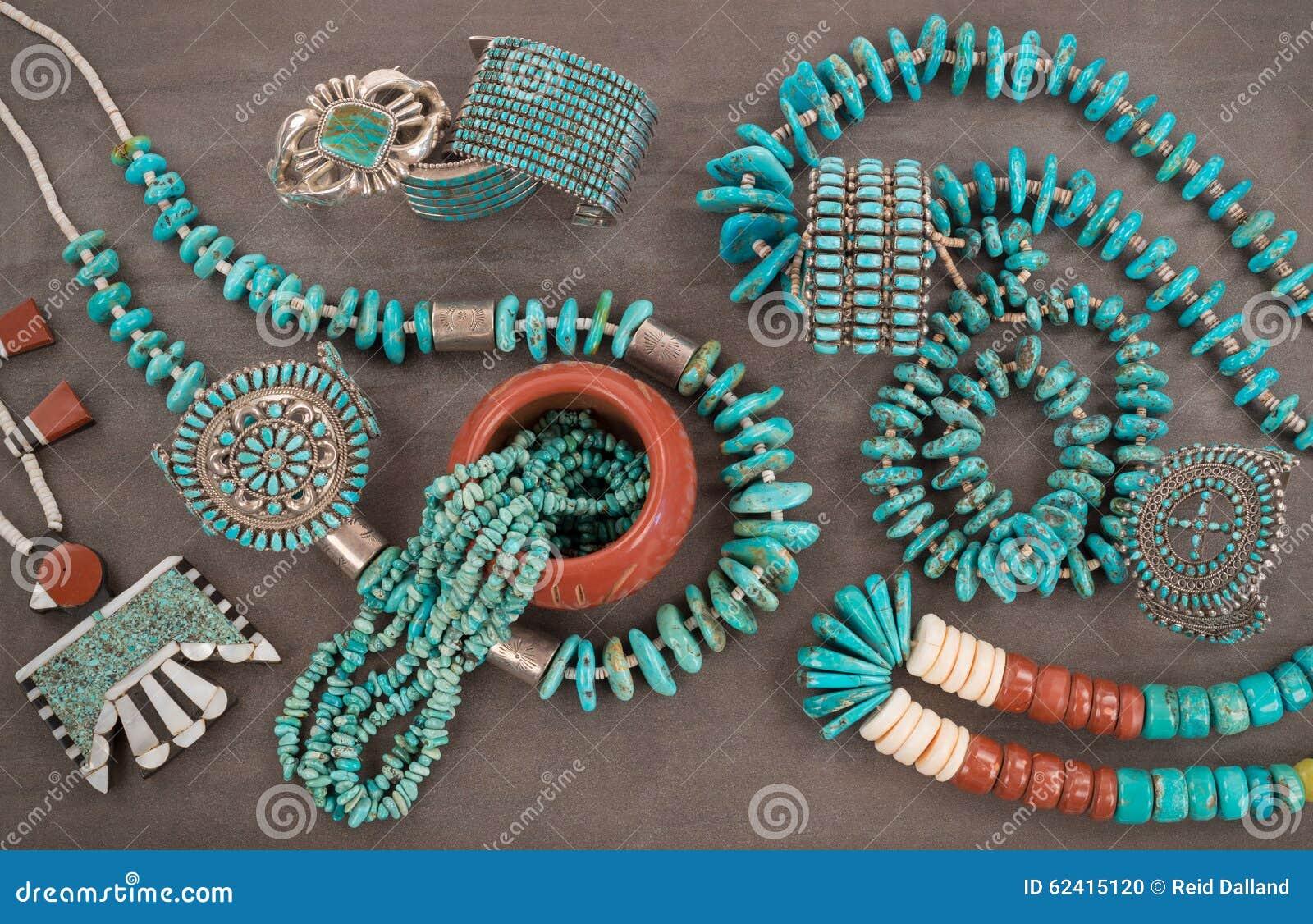 Turquoise Jewelry Extravaganza Stock Photo Image Of