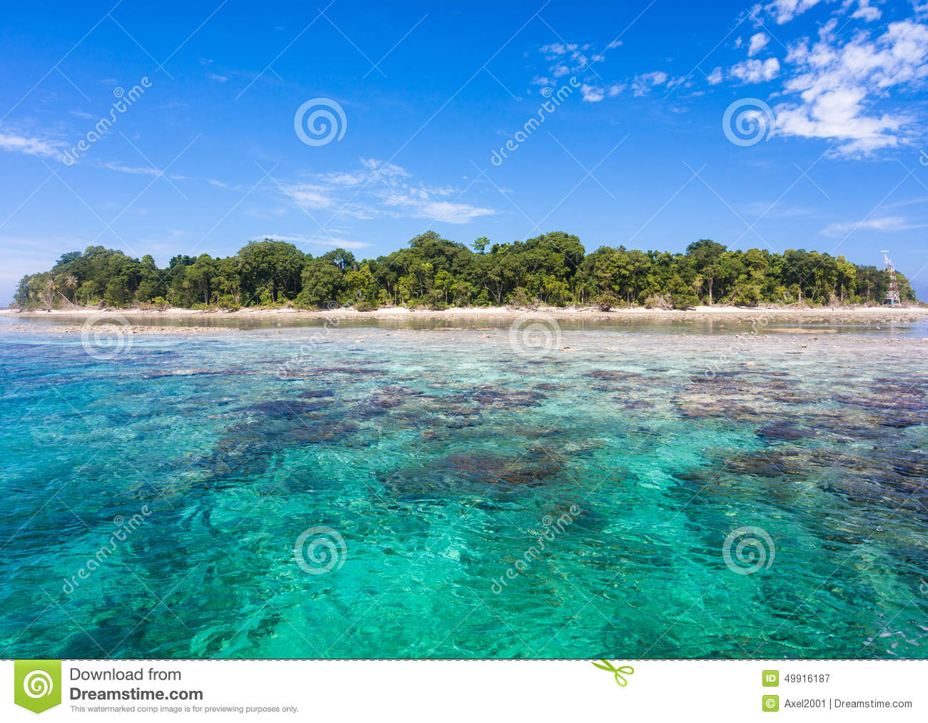 Download Turquoise Ocean Water And Idyllic Tropical Island Of Sipadan, Malaysia. Stock Image - Image of reef, paradise: 49916187