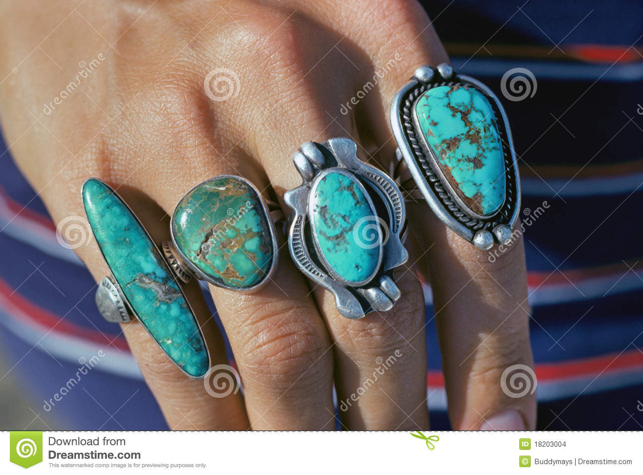 Turquoise Rings Stock Images Image 18203004