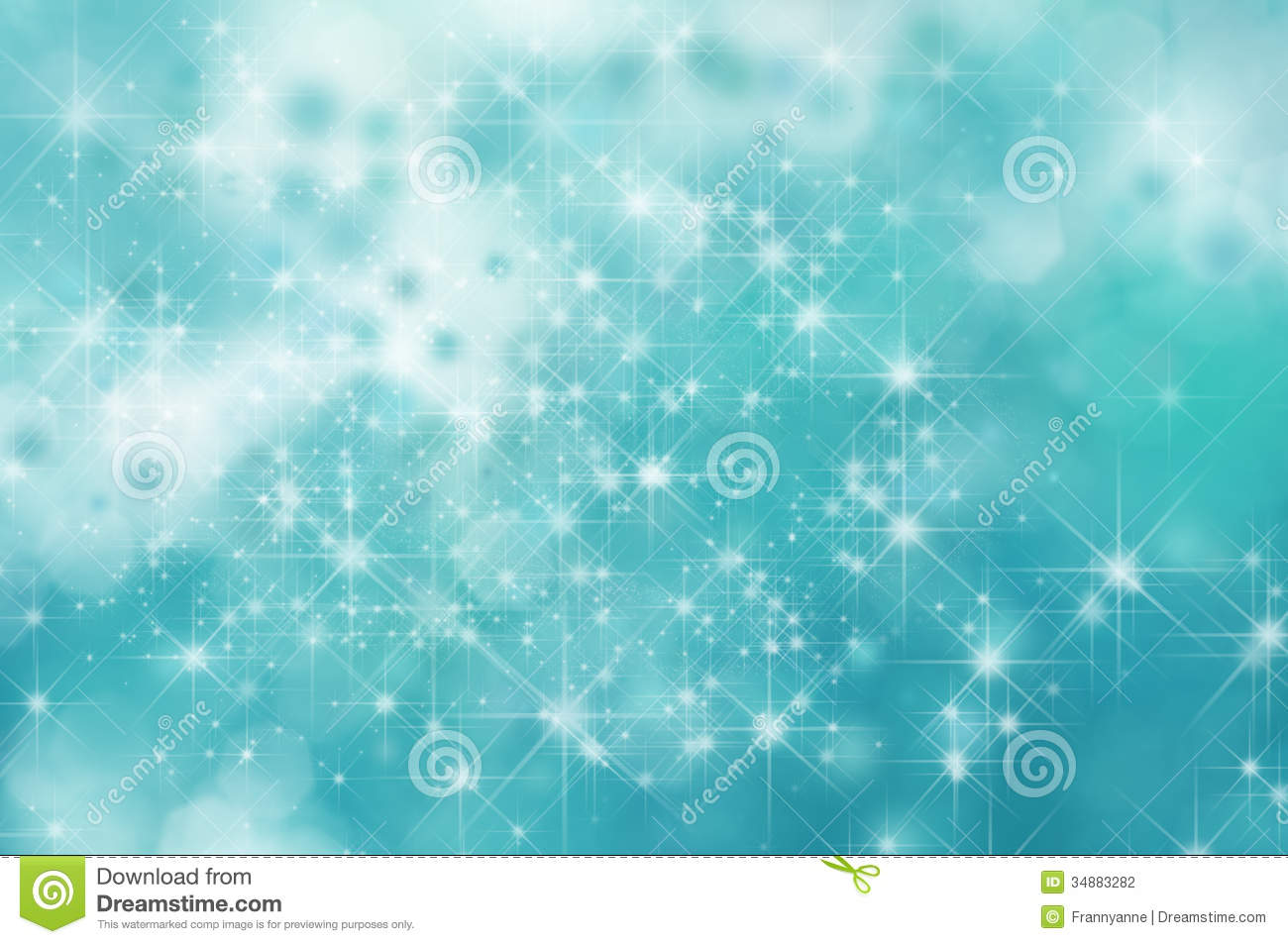 Turquoise Star Background