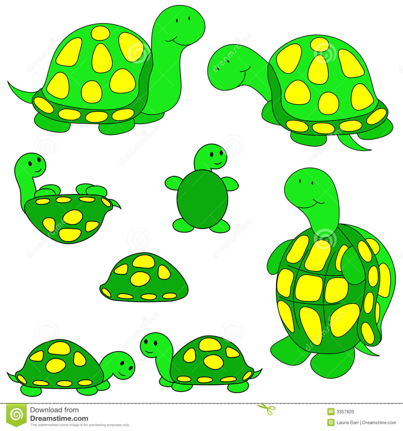Turtle Clip Art Stock Illustration Illustration Of Positions 3357820