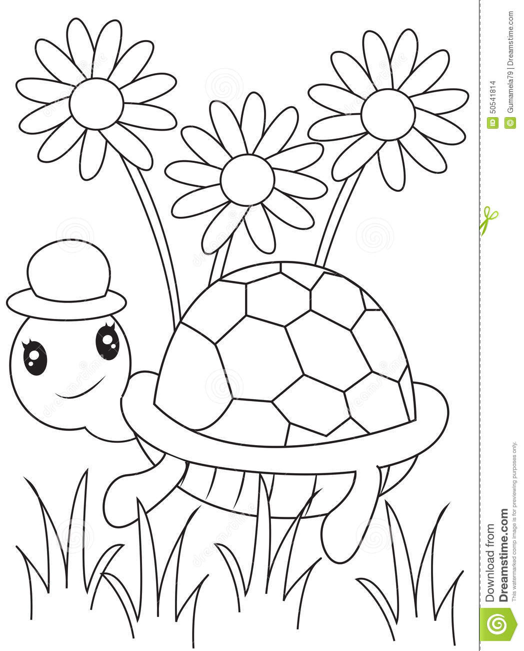 Abstract Turtle Coloring Pages : Turtle coloring page stock illustration image