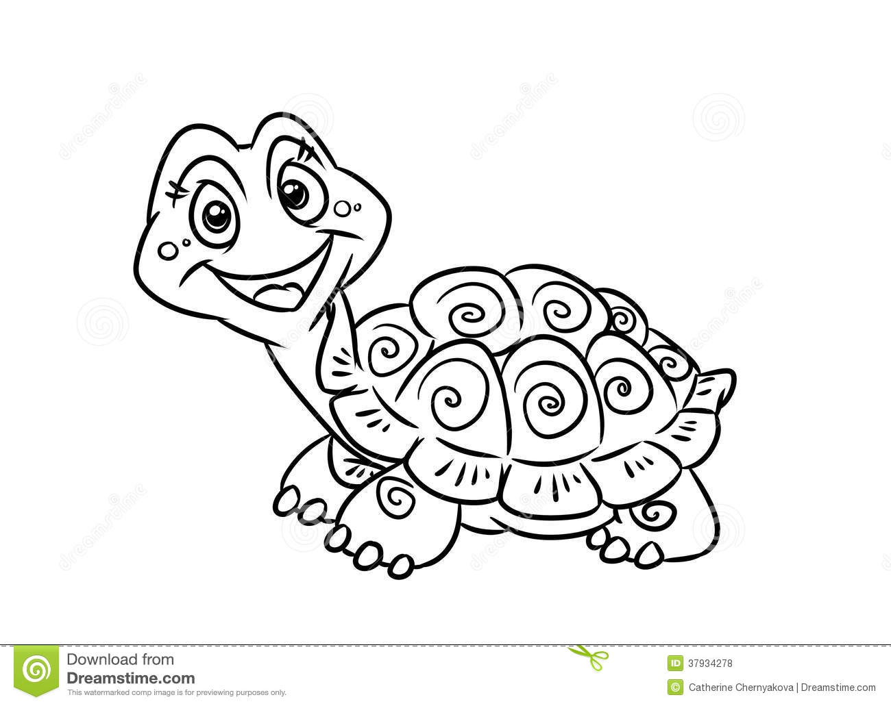 Turtle Fun Coloring Pages Royalty Free Stock Photos - Image: 37934278