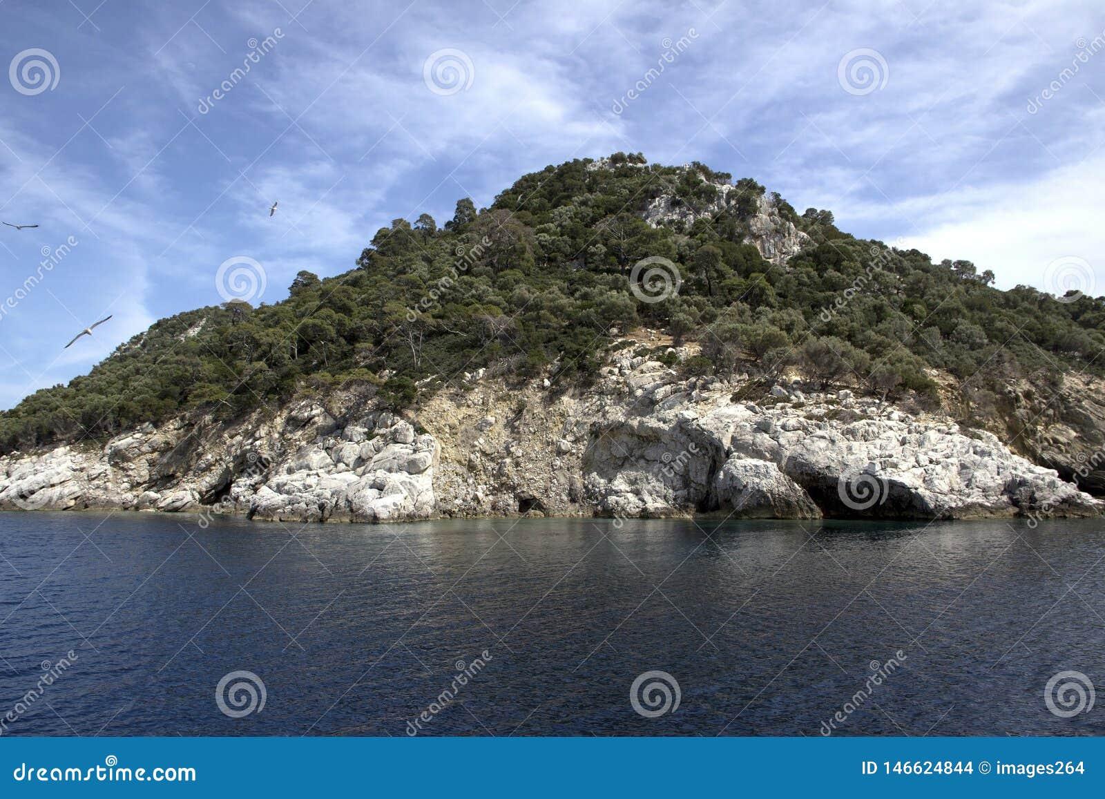 Turtle island in Greece