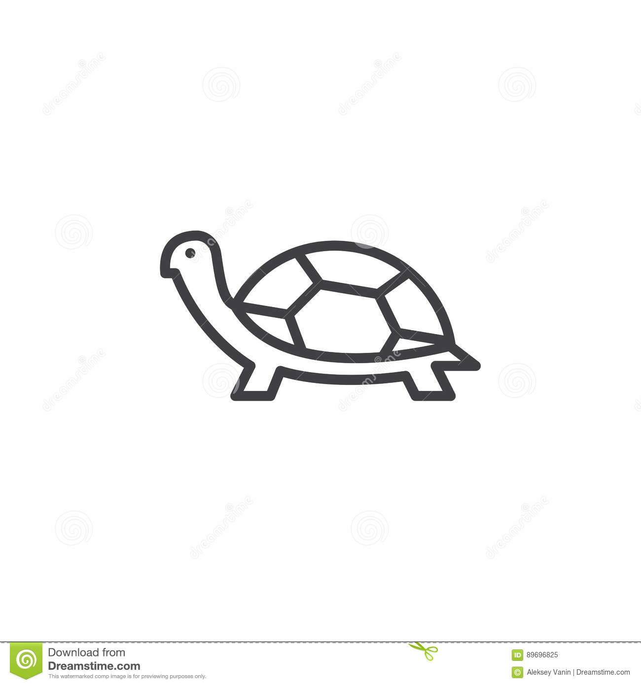 Turtle Line Icon Outline Vector Sign Stock Vector Illustration Of