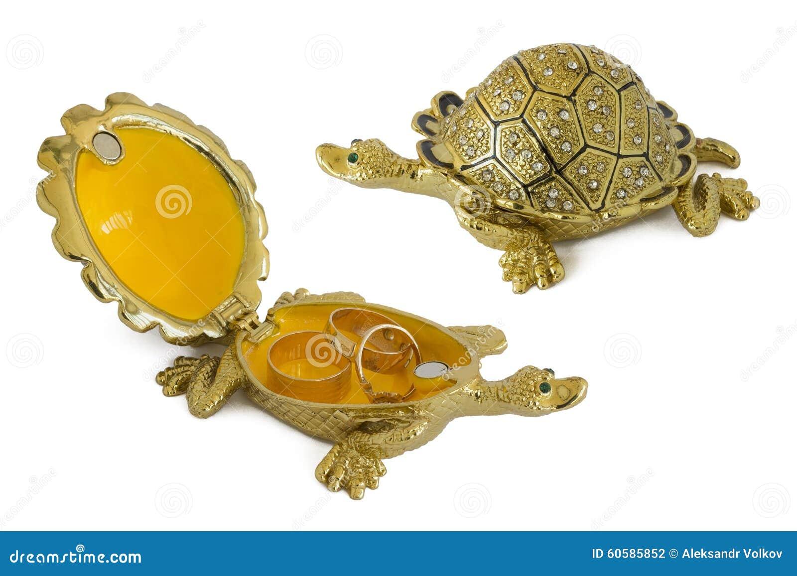Decorative Turtle Jewelry Box Royalty-Free Stock Photo ...
