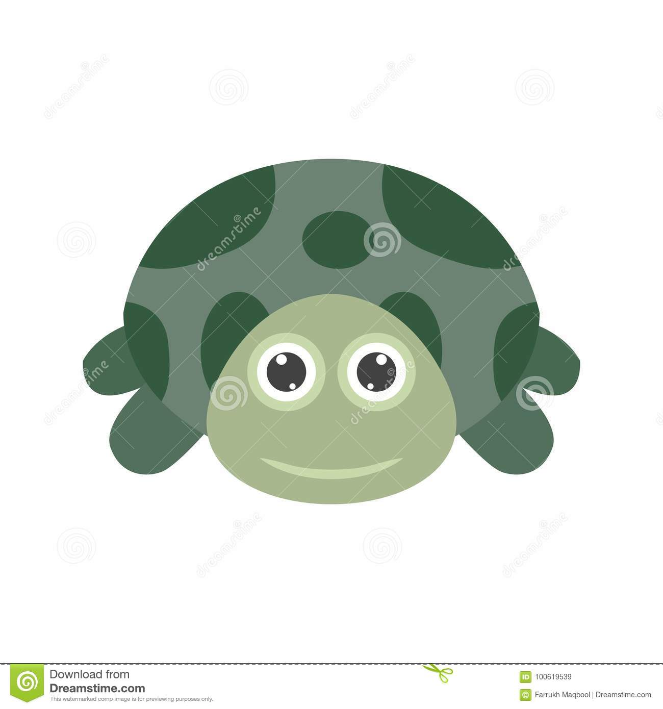 Turtle Face Stock Vector Illustration Of Ocean Turtle 100619539