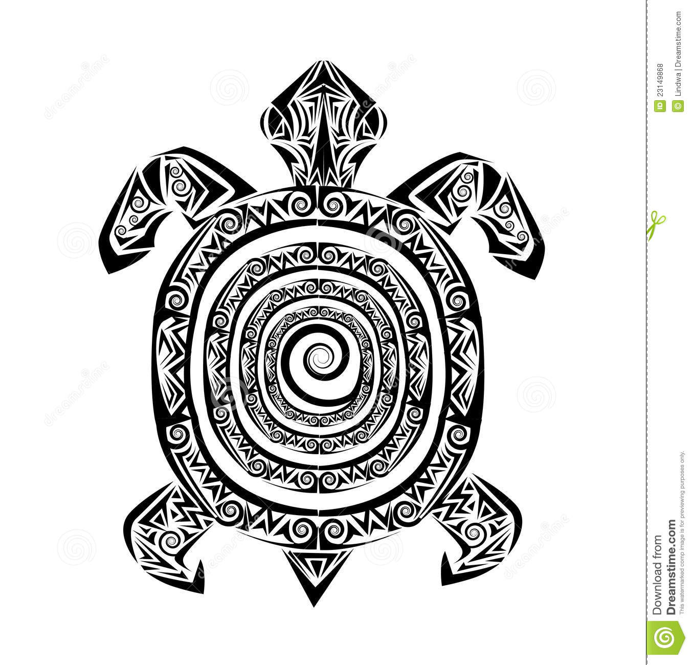 Tribal Turtle Tattoos Art