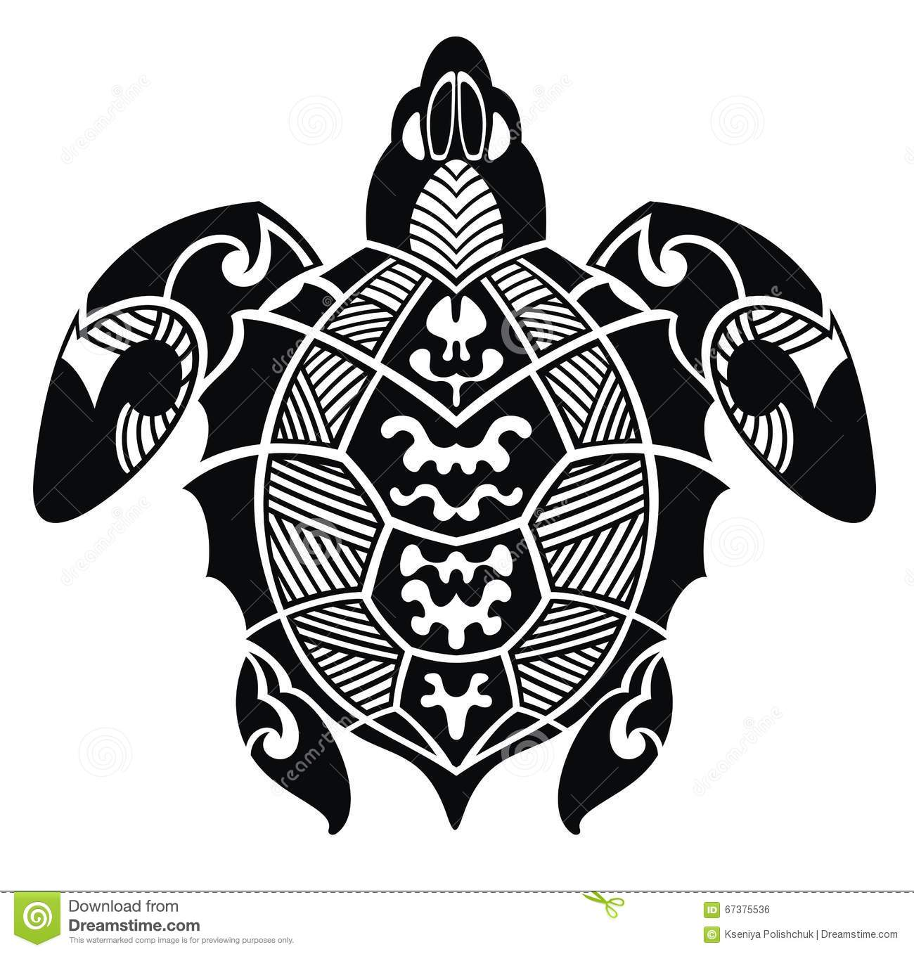 Turtle Tattoo Design Stock Vector Illustration Of Image 67375536