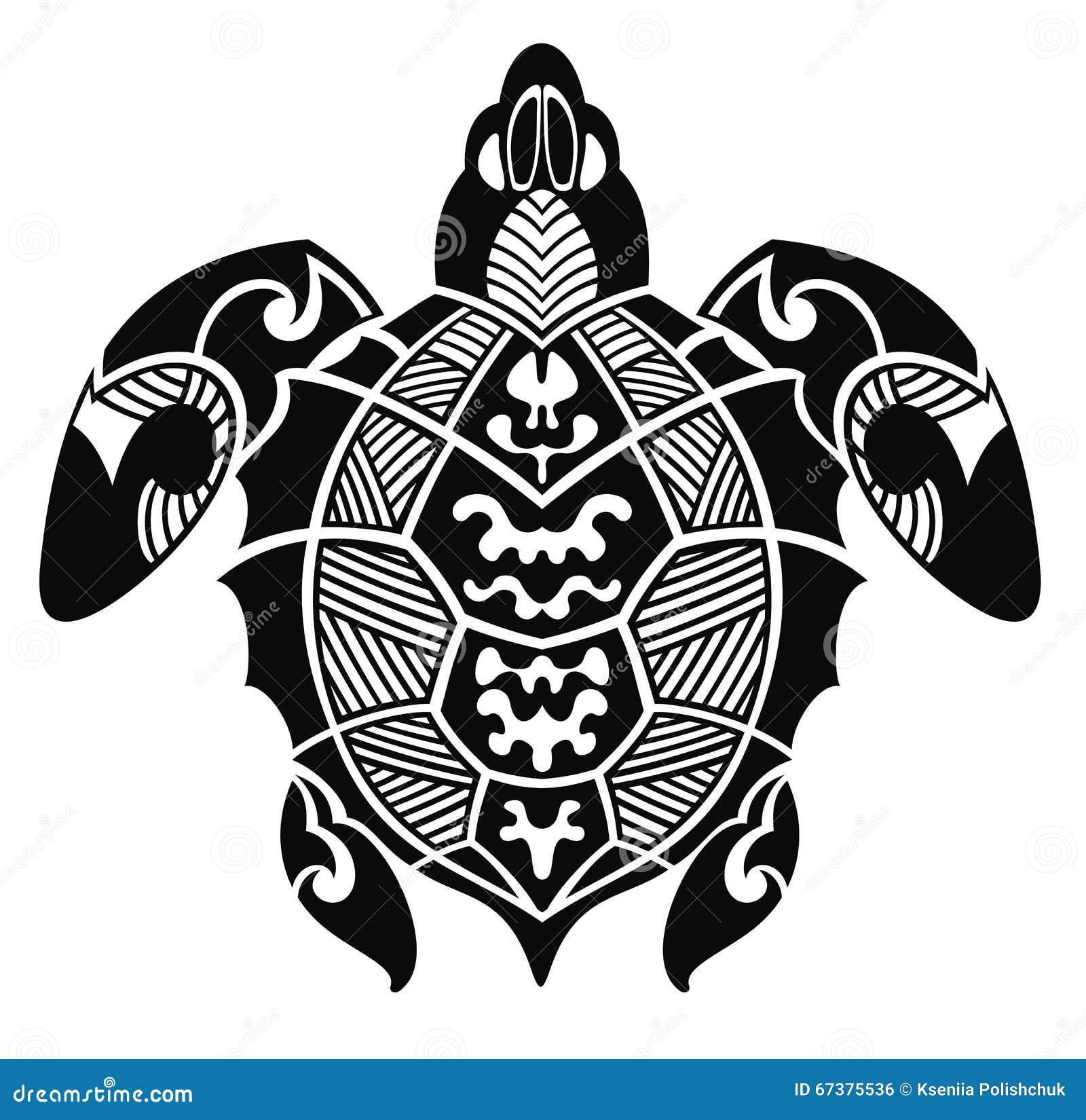 Turtle Tattoo Design Stock Vector Illustration Of Image 67375536