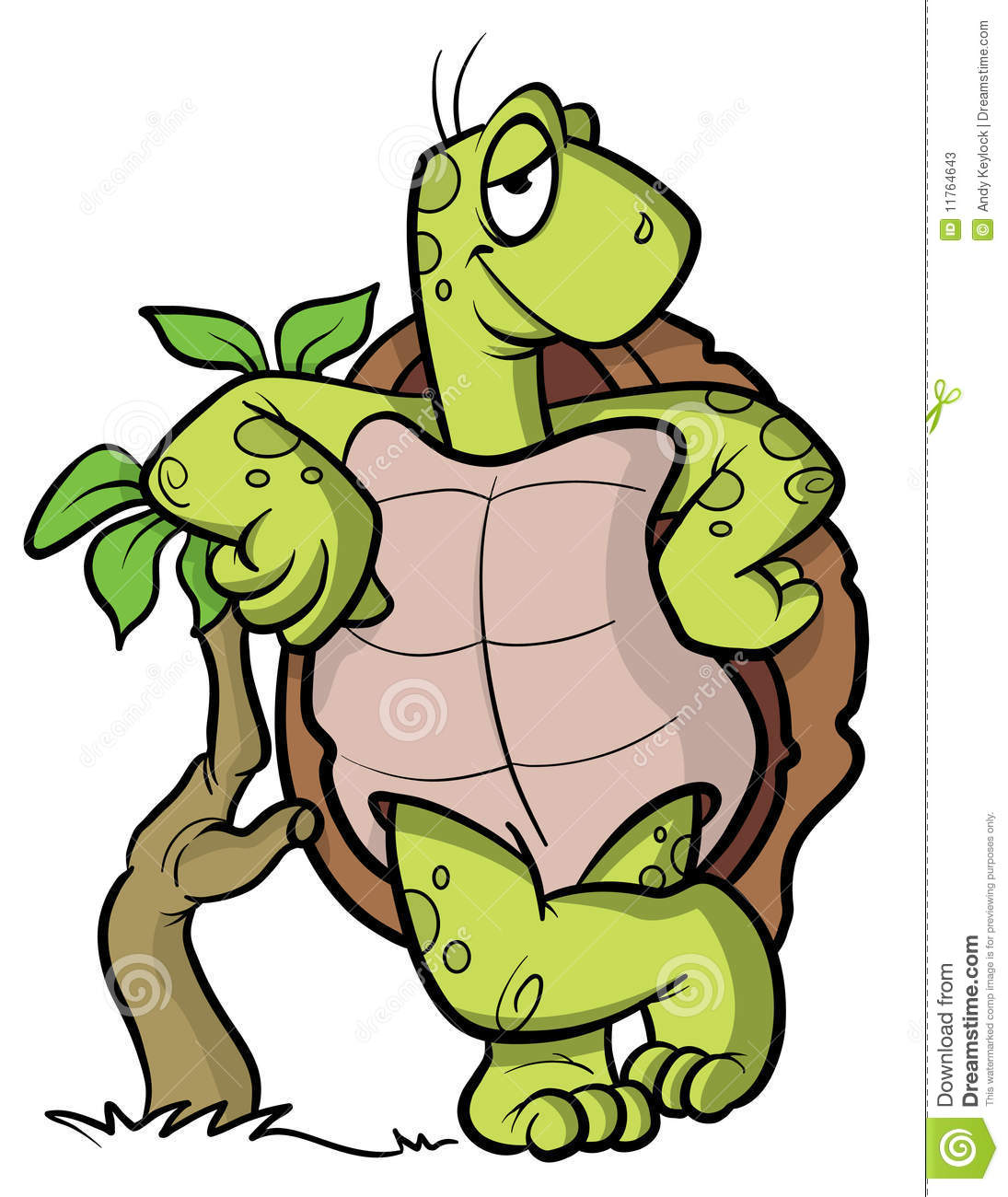Turtle Or Tortoise Cartoon Illustration Stock Photos - Image: 11764643