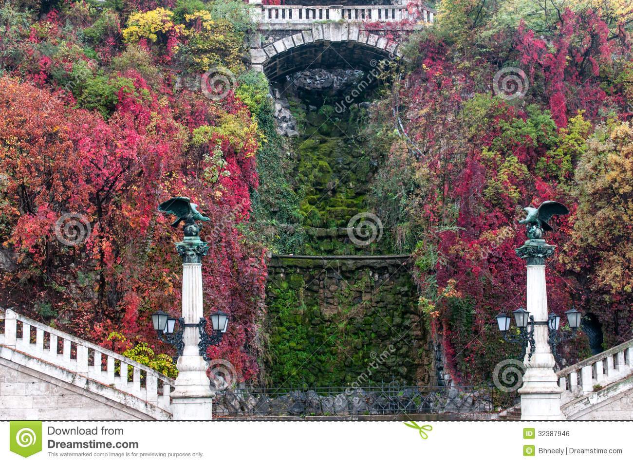 turuls and dry waterfall budapest hungary royalty free stock