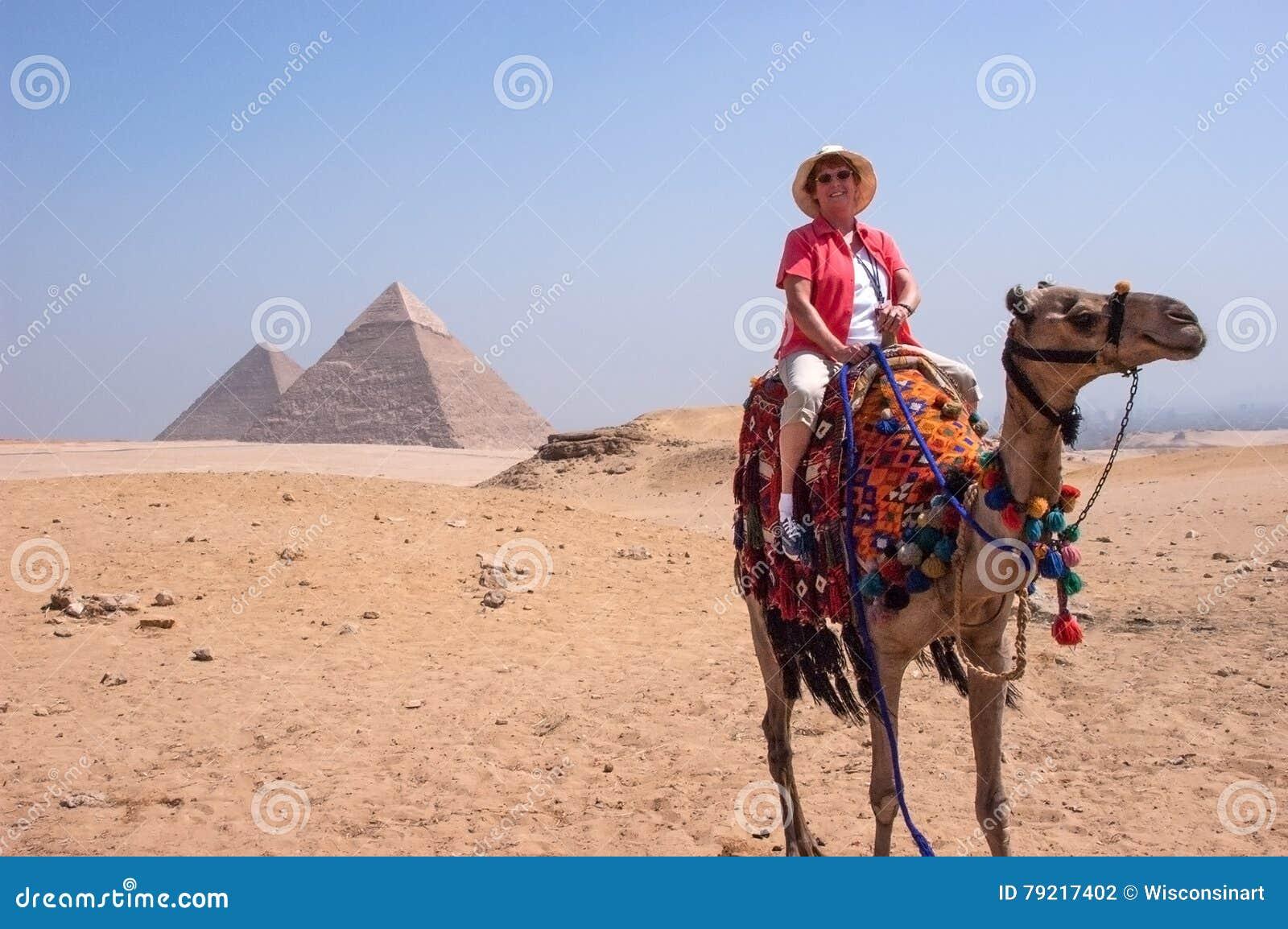 Turysta, Egipt ostrosłup, podróż, wakacje