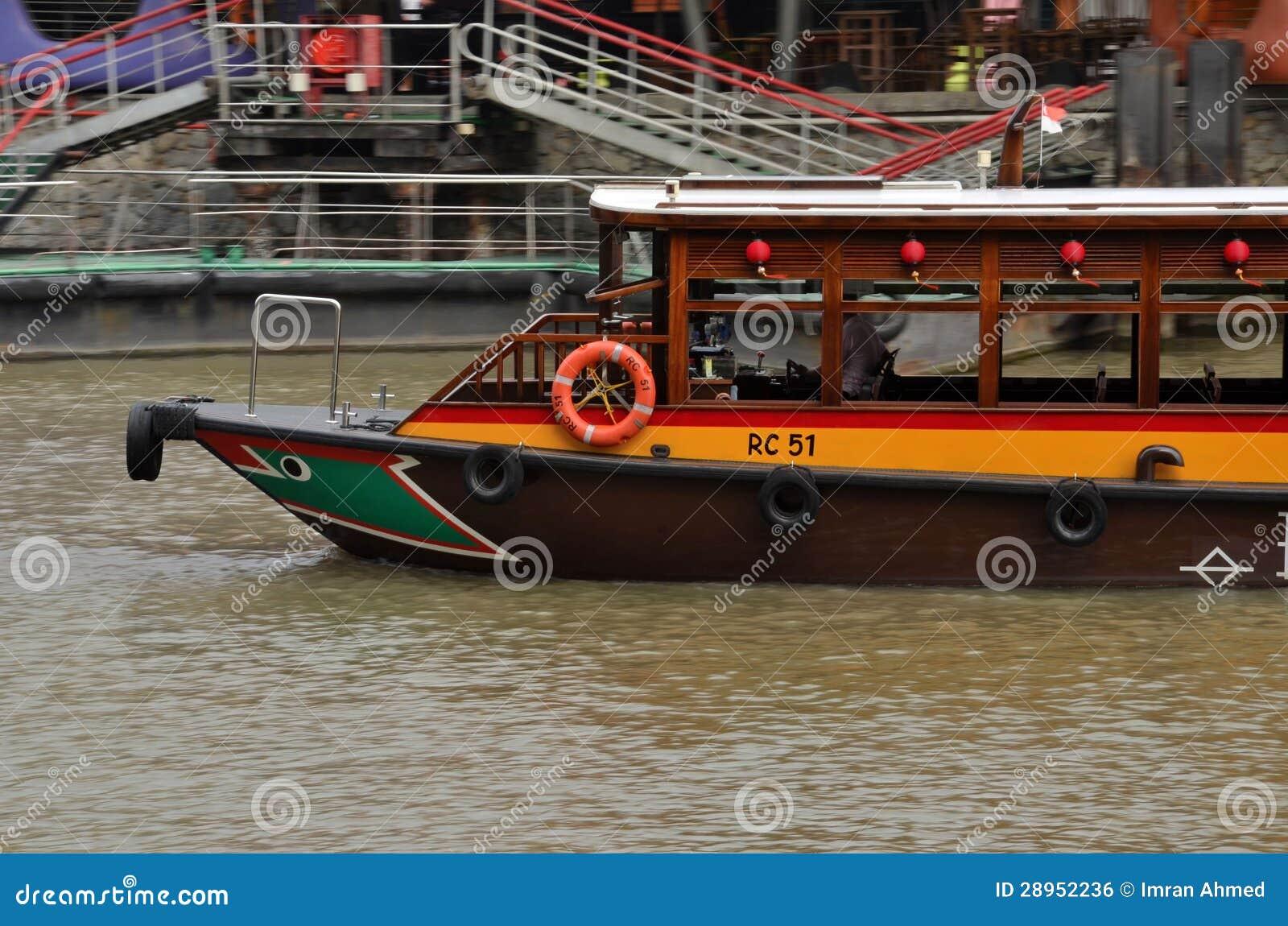 Turystyczny ferryboat: Clarke Quay, Singapur