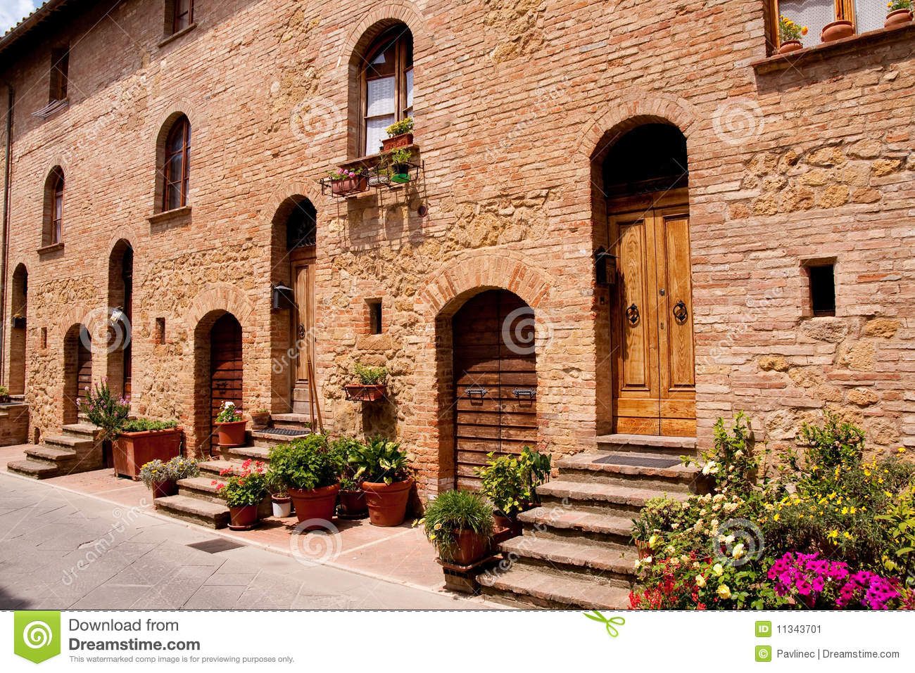 tuscan historic architecture stock image - image: 11343701