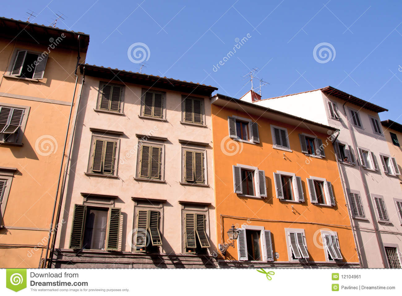 tuscan historic architecture stock image - image: 12104961