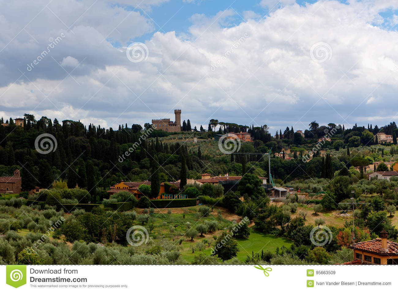tuscan landscape florence italy stock image image of romantic