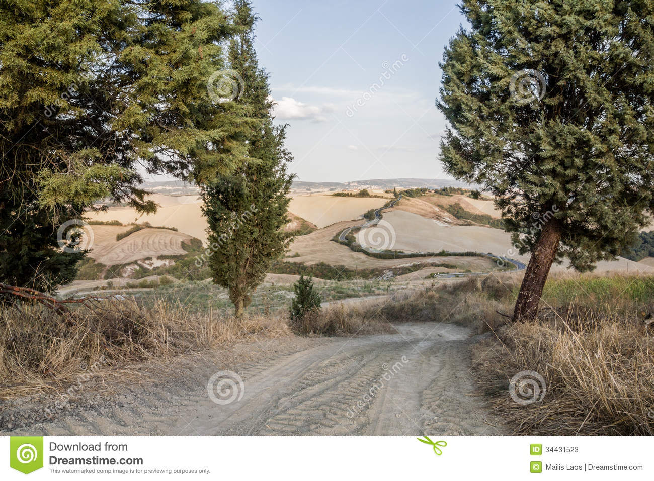 Download Tuscan Roads stock image. Image of sienese, roads, road - 34431523
