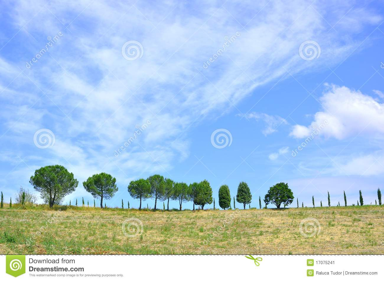 Tuscan rural landscape in Italy