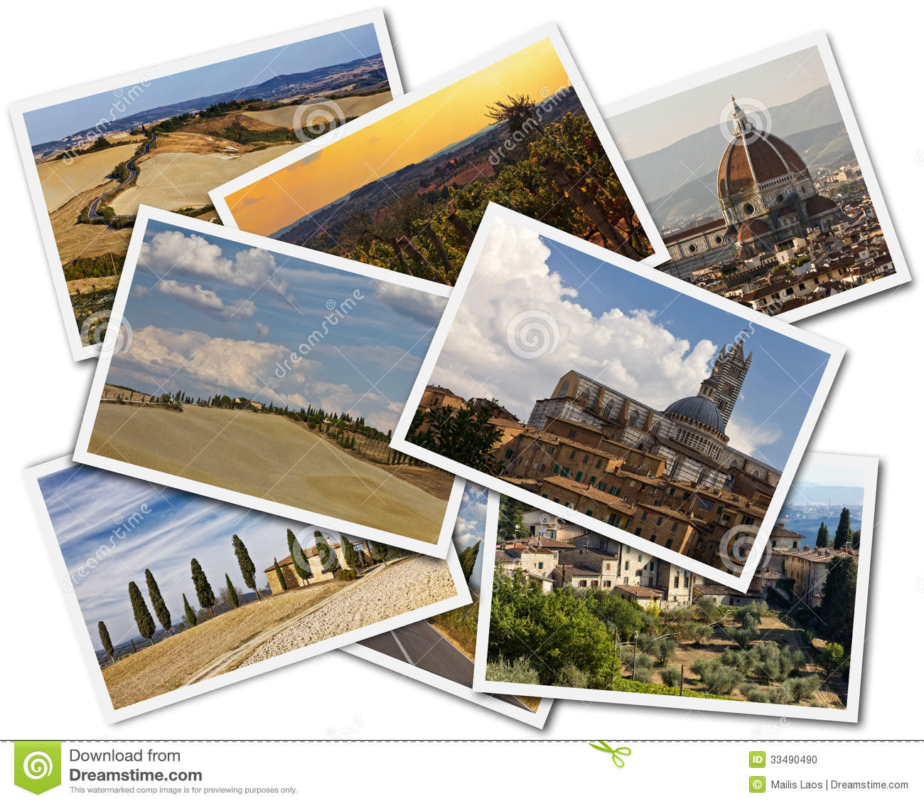 Download Tuscany Collage stock photo. Image of agriculture, isolated - 33490490