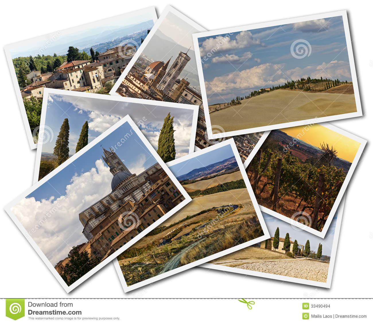 Download Tuscany Collage stock photo. Image of isolated, photos - 33490494