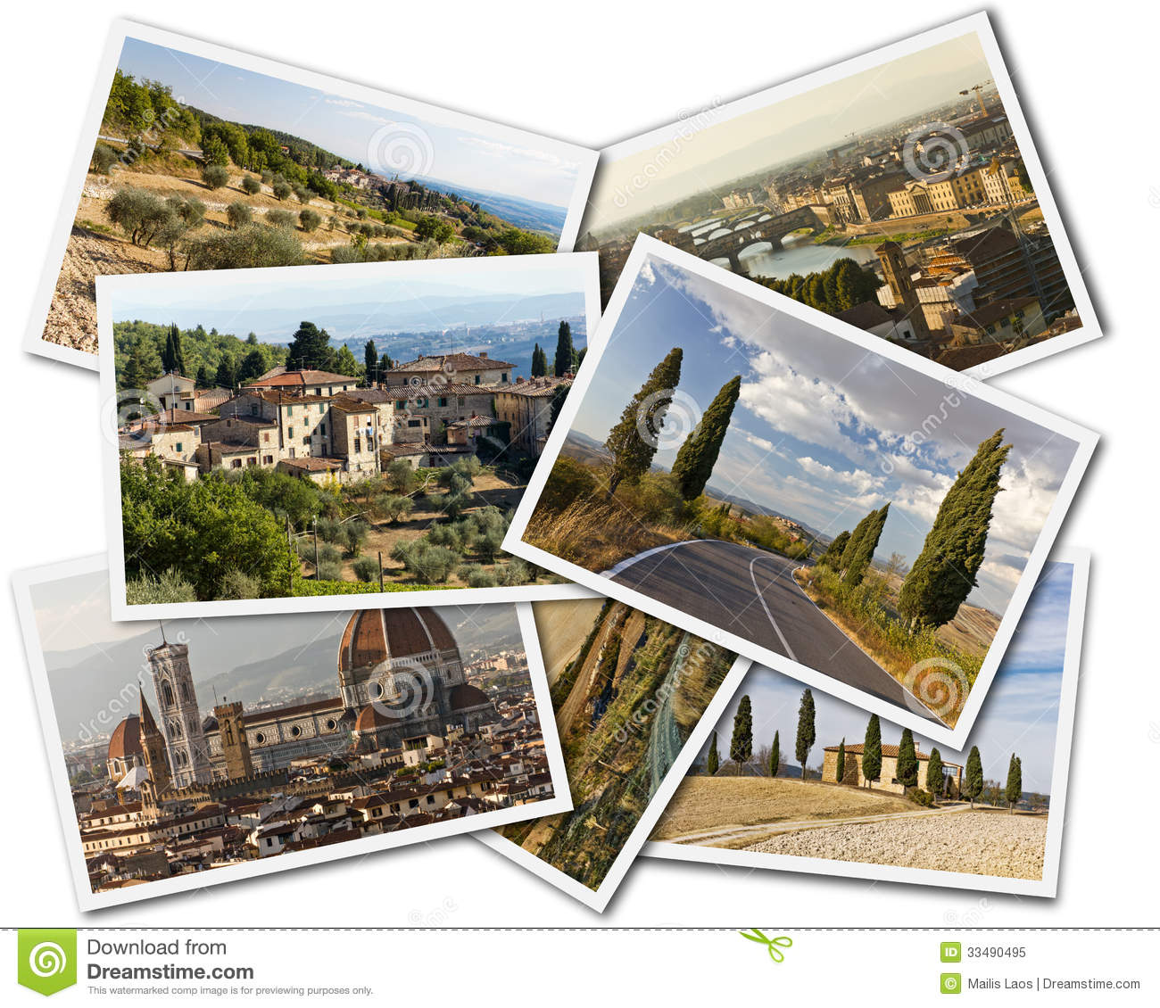 Download Tuscany Collage stock image. Image of assortment, memories - 33490495