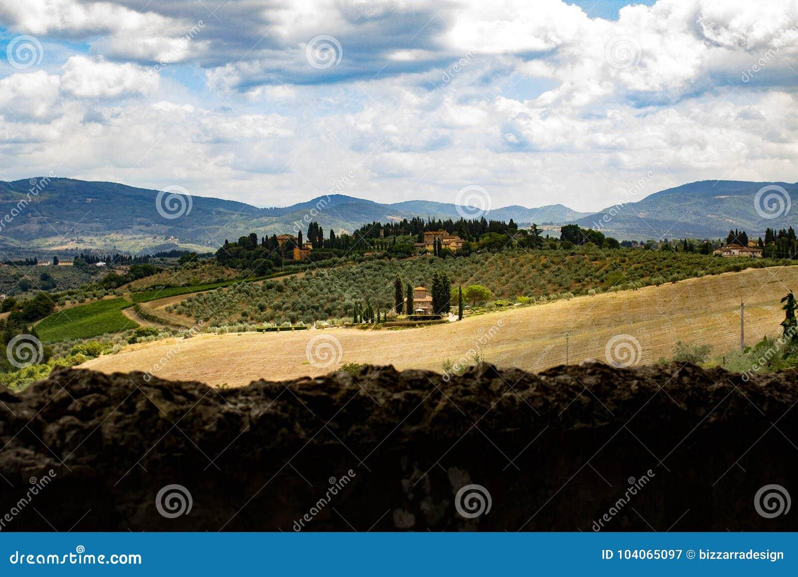 Tuscany country landscape from Impruneta