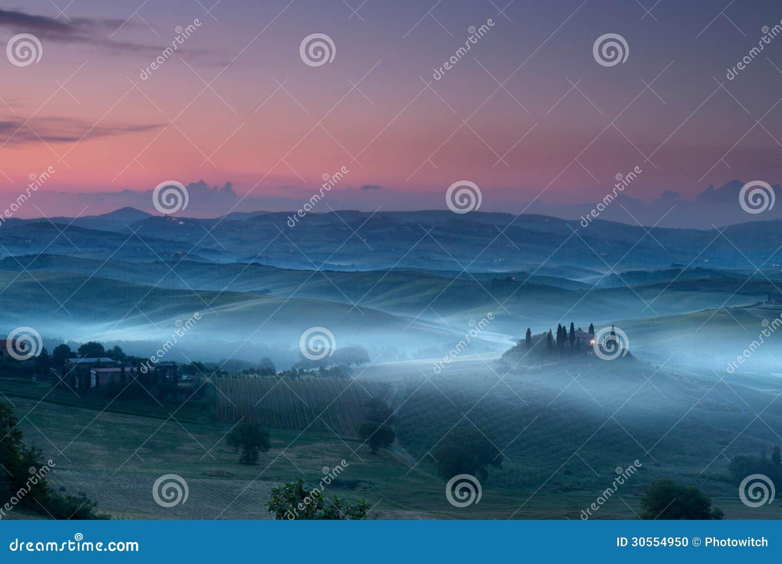 Tuscany before dawn