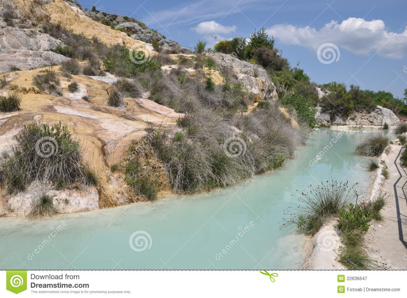 tuscany hot spring in bagno vignoni royalty free stock photography