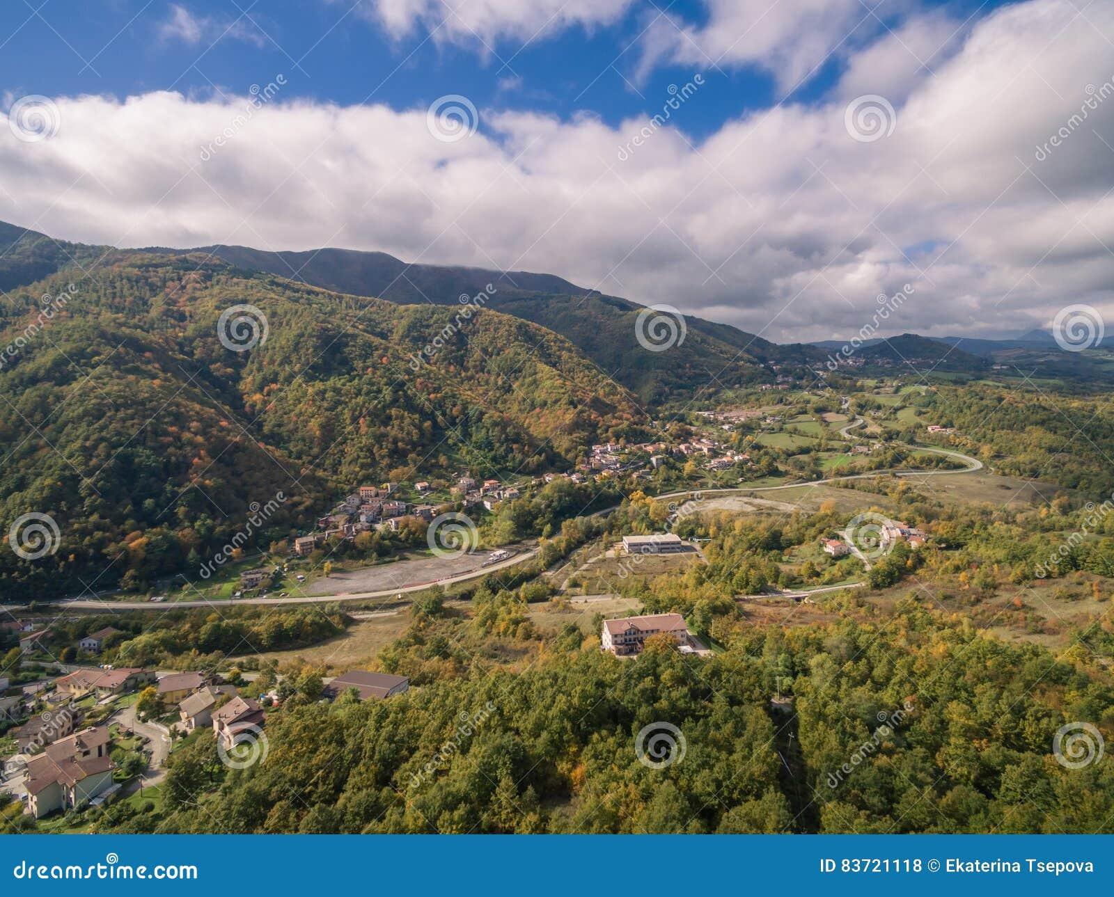 Tuscany, Italy, Aerial View Stock Photo