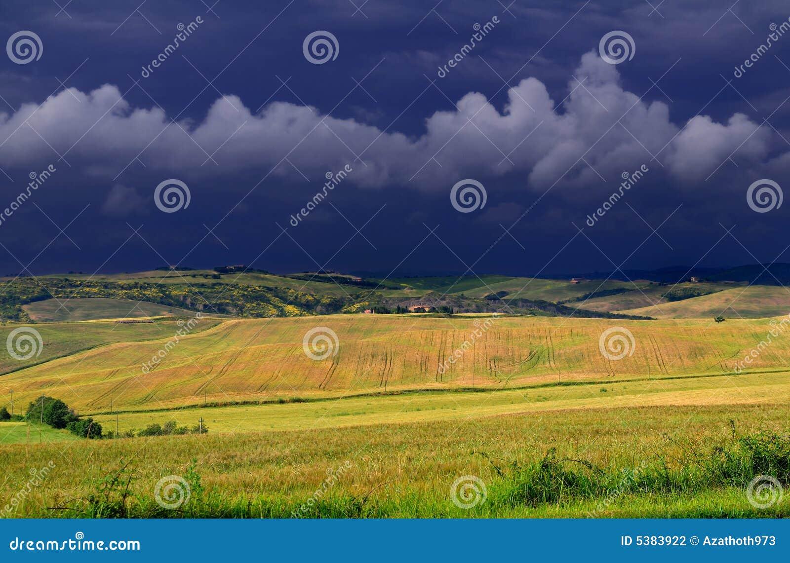 Tuscany june afternoon thunder