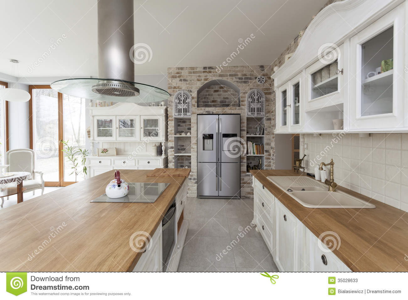 Tuscany Kitchen Furniture Stock Image Image Of