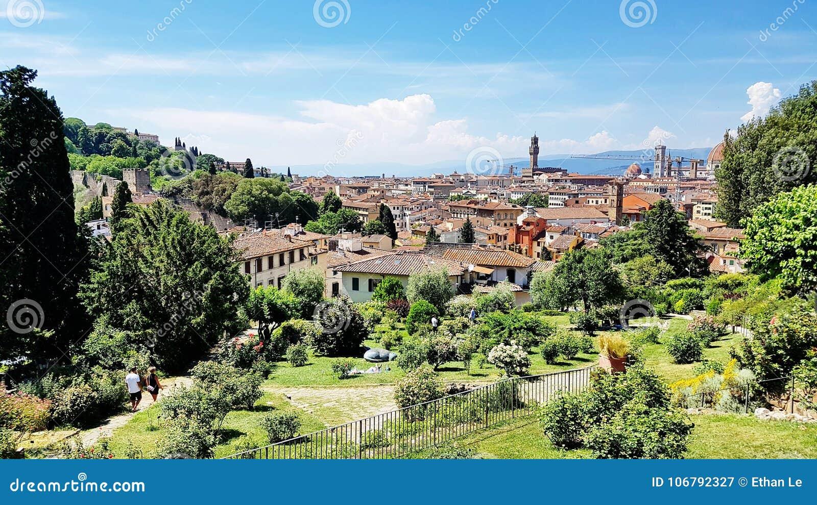 tuscany landscape in florence italy stock image image of