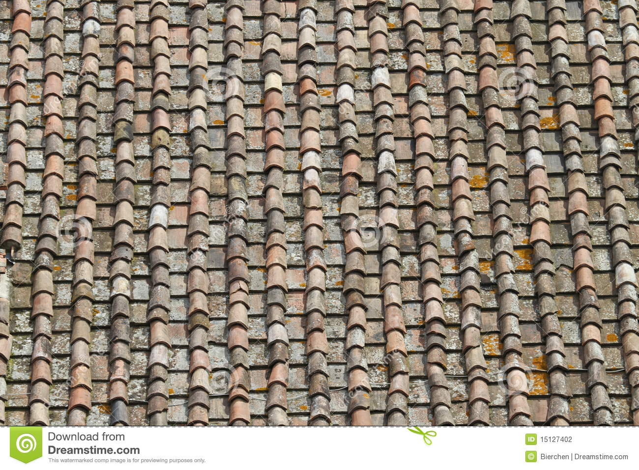 Tuscany roof tiles stock photography image 15127402 for Tuscan roof design