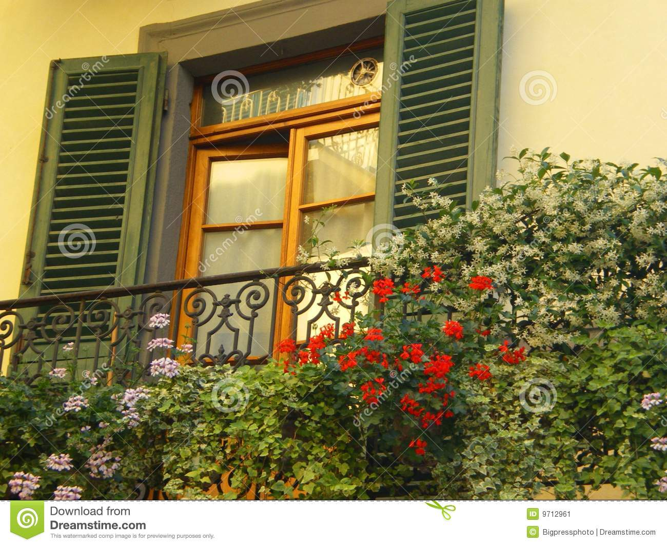 Tuscany Window With Shutters Stock Image Image 9712961