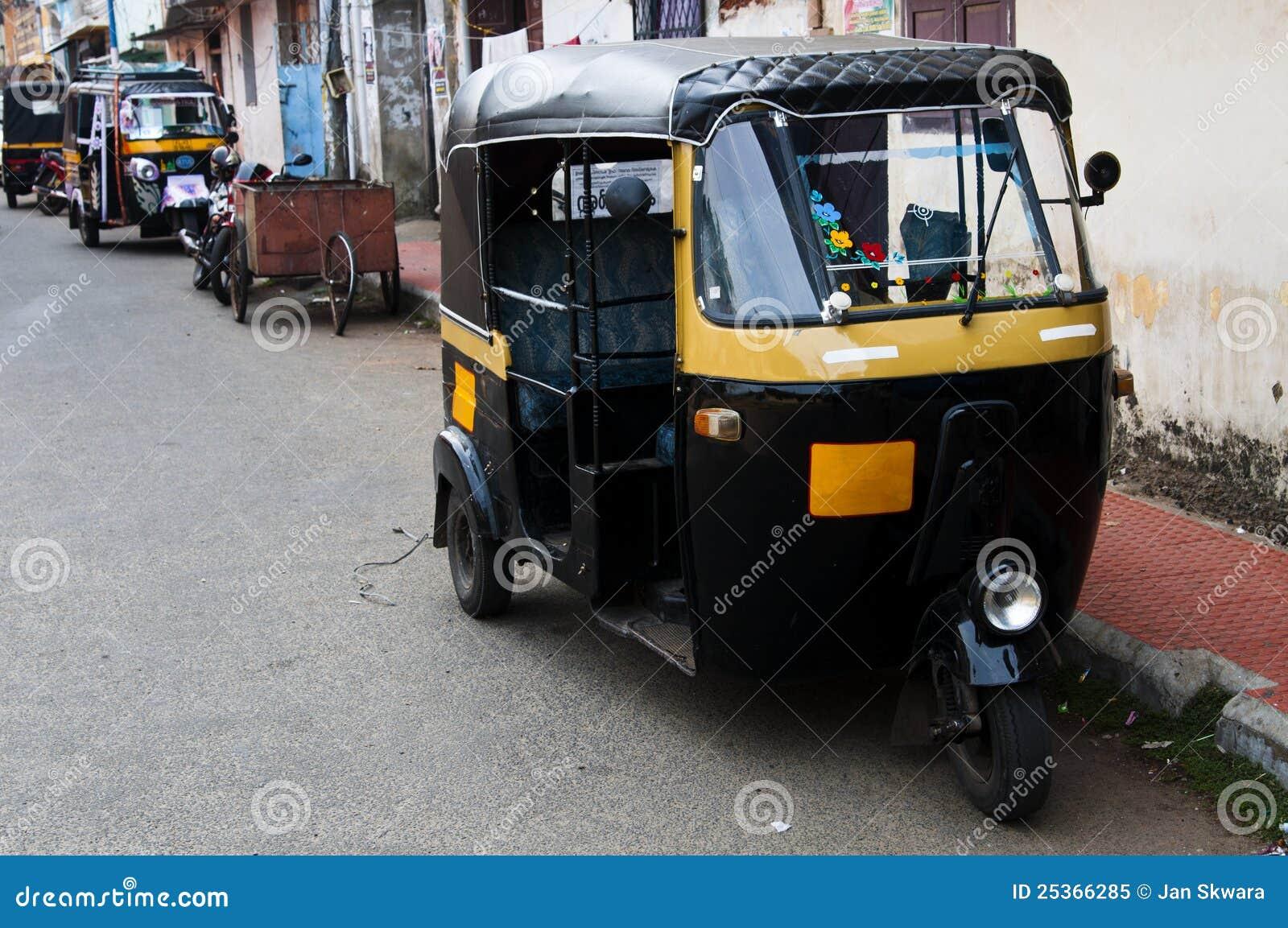 tut tuk auto rickshaw taxi in india royalty free stock. Black Bedroom Furniture Sets. Home Design Ideas