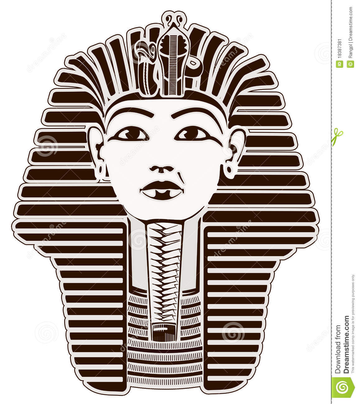 King Tut Designs tutankhamun stock image - image: 18387381