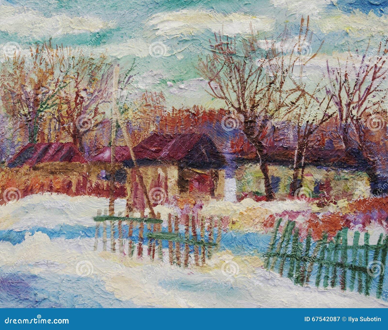 Tutti i colori dell 39 inverno immagine stock immagine di - Immagine dell albero a colori ...