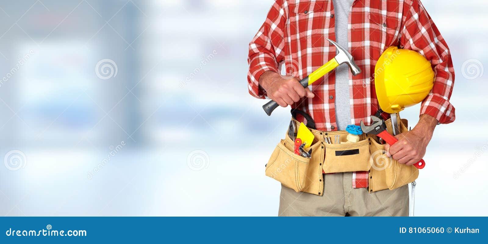 Tuttofare del costruttore con gli strumenti della costruzione