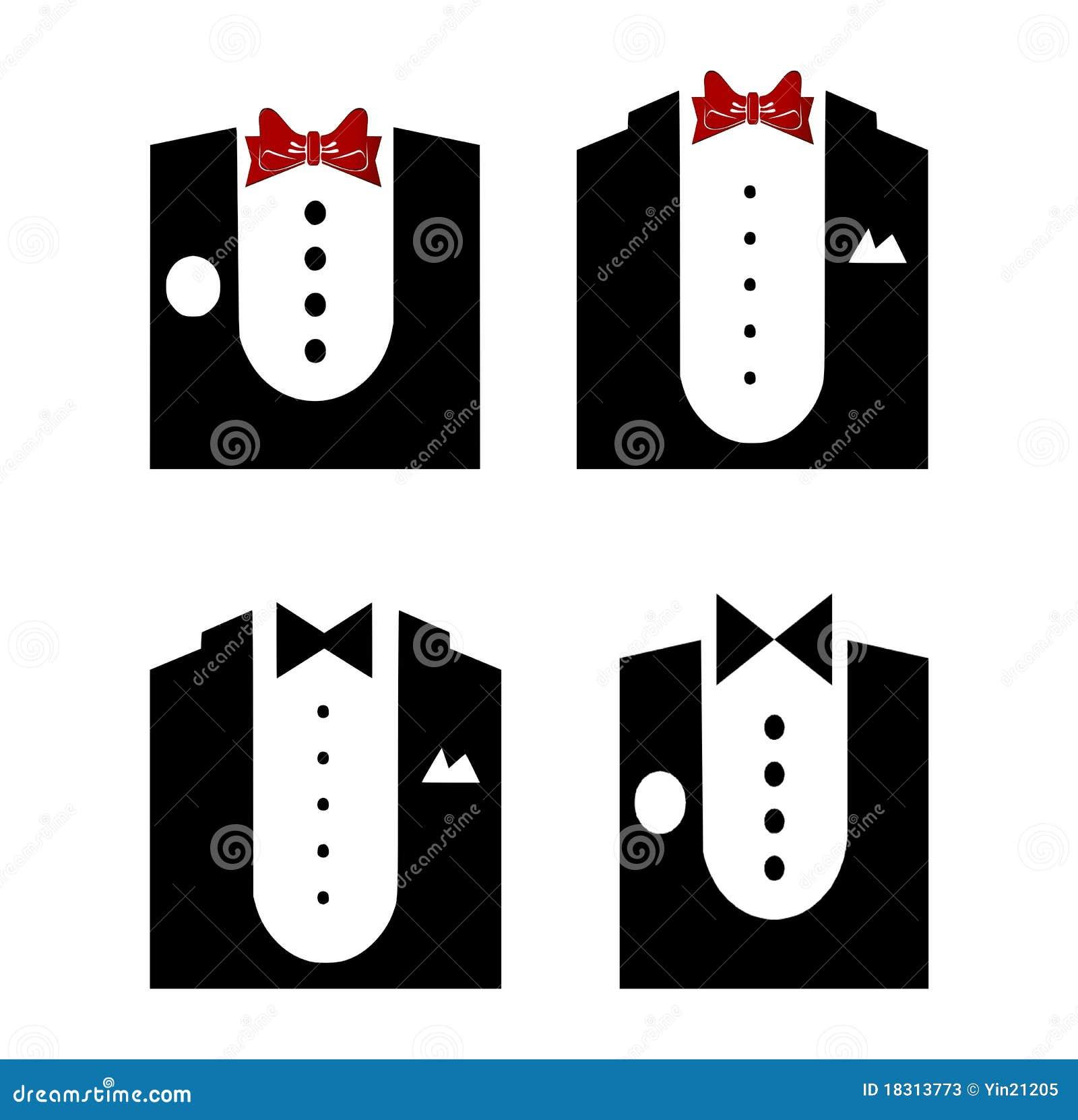 tuxedo stock vector image of lapel wedding white shirt