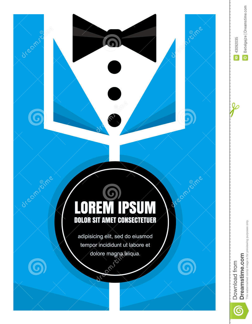 Tuxedo With Bow Tie Idea Concept Background Design For