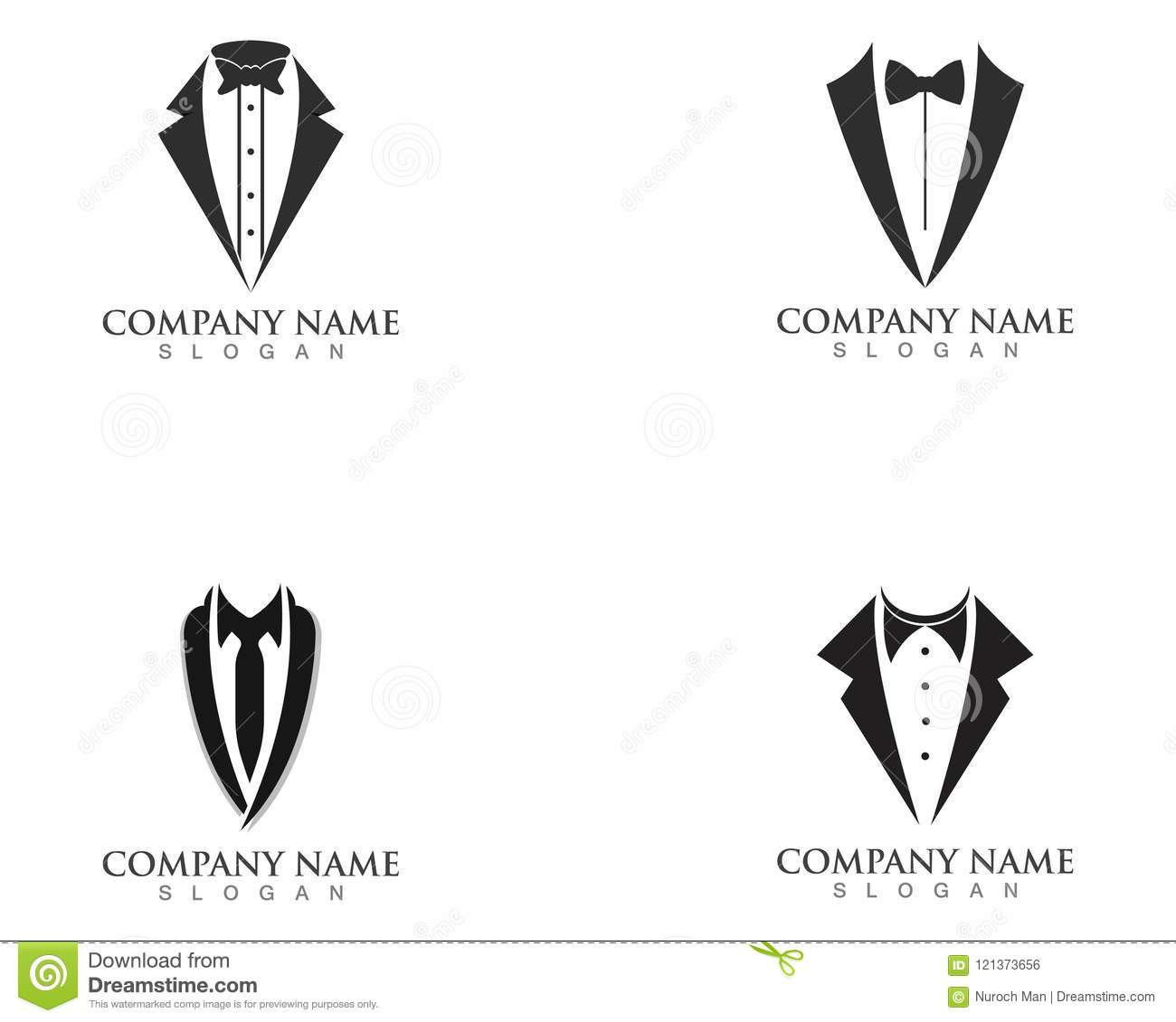 Tuxedo Logo Design Icon Stock Vector Illustration Of Dark 121373656